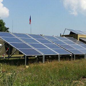 location container photovoltaïque