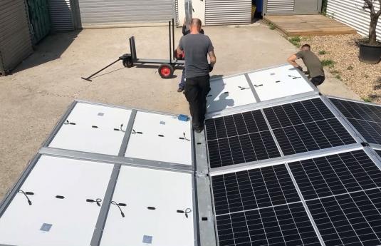 container photovoltaïque